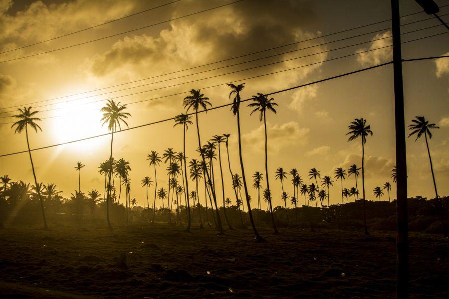 Остров Сан Андрес 5J0Y Туристические достопримечательности Закат