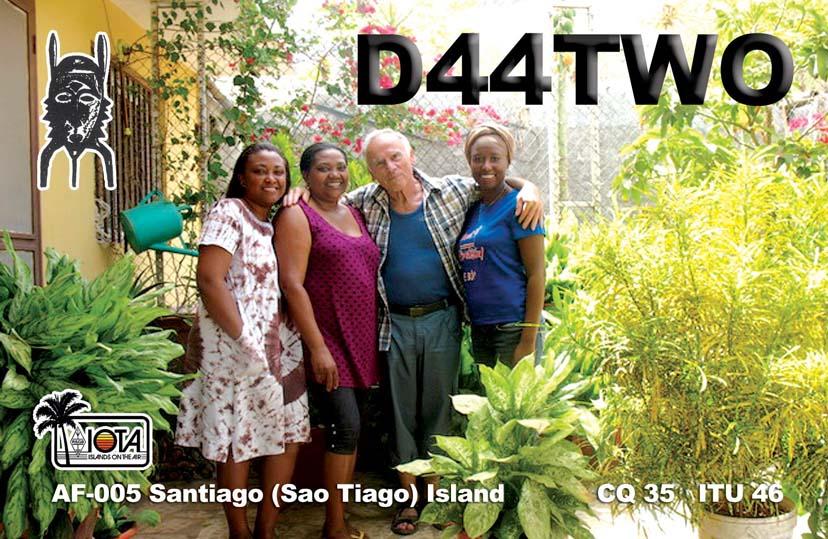 Praia Santiago Island Cabo Verde Cape Verde D44TWO QSL