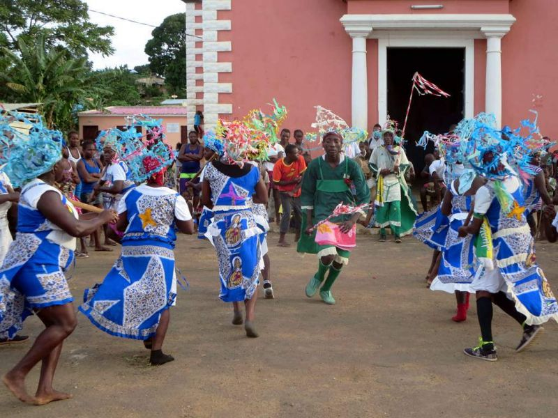 Sao Tome and Principe S9BT S9WL DX News Traditional Dancers Sao Tome Island.
