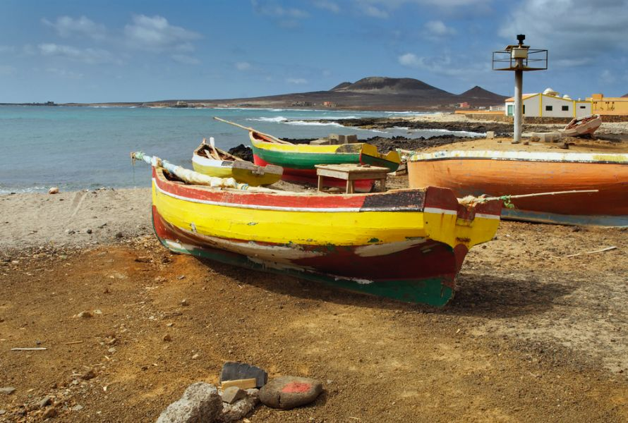 Sao Vicente Island Cabo Verde Cape Verde D4Z DX News Fishing boats in Cape Verde.