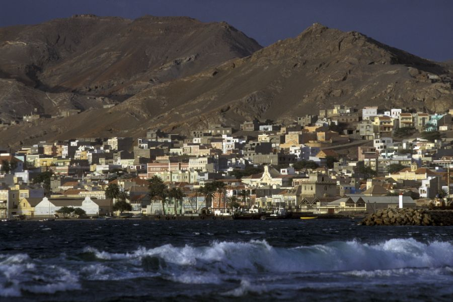 Sao Vicente Island Cabo Verde Cape Verde D4Z The city of Mindelo.