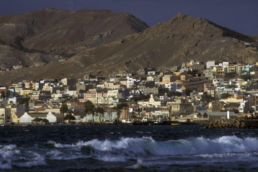 Остров Сан Висенти Кабо Верде Острова Зеленого Мыса D4Z Город Миндело.