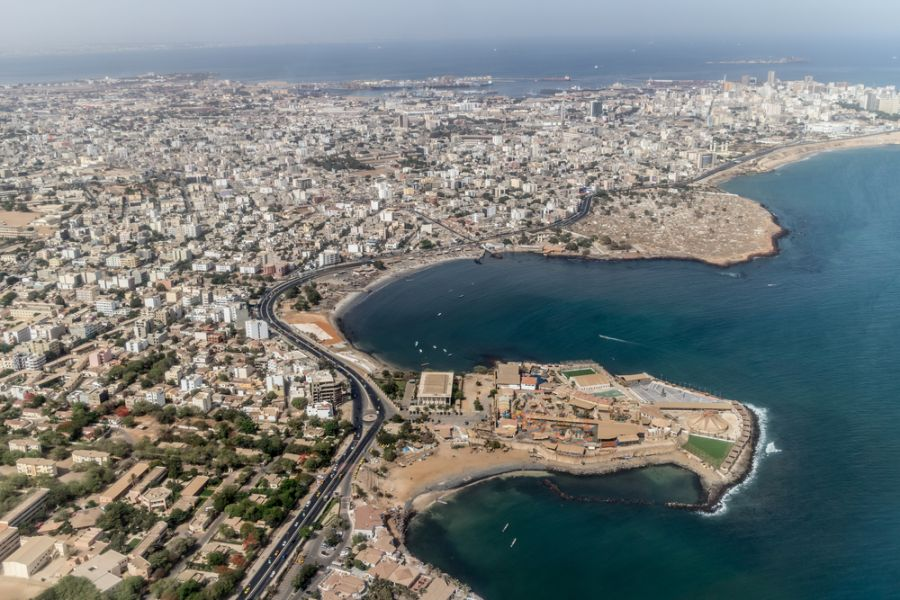 Senegal 6V7A DX News Aerial view of the city of Dakar.