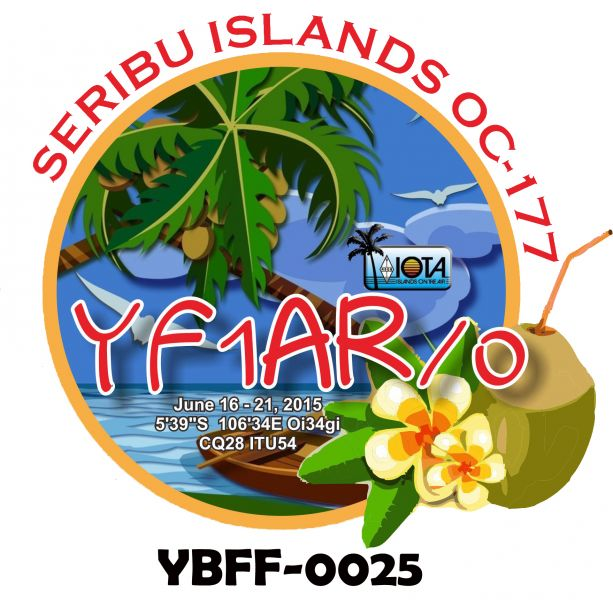 Seribu Islands Kelapa Island Harapan Island YF1AR/0 Logo