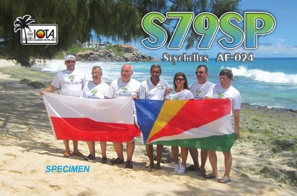 Mahe Island S79SP Seychelles QSL