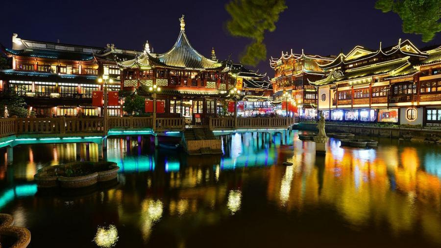 Shanghai China B4/DF8DX Tourist attractions Yu Yuan