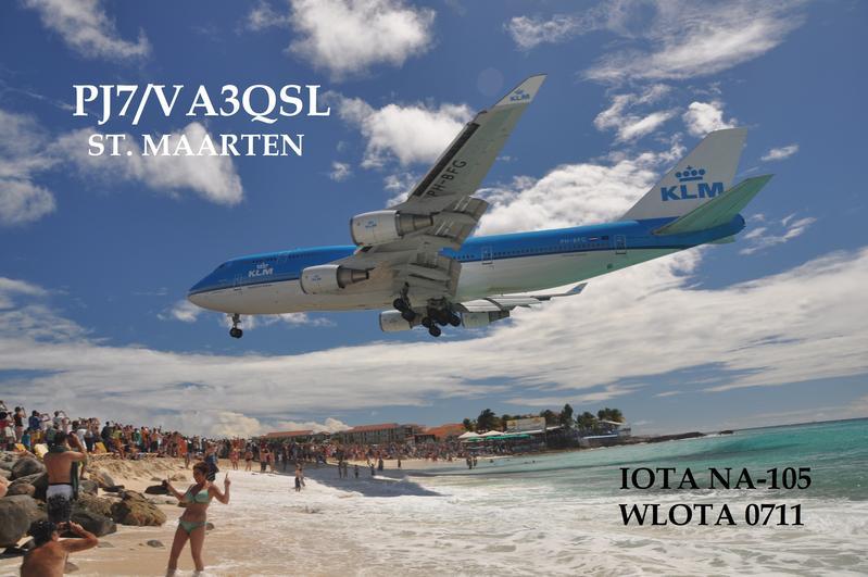 Sint Maarten PJ7/VA3QSL QSL