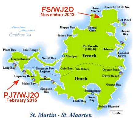 Sint Maarten Island PJ7/WJ2O