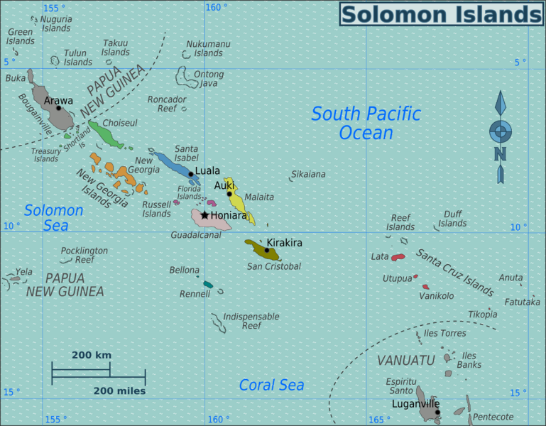 Solomon Islands H44NT Map
