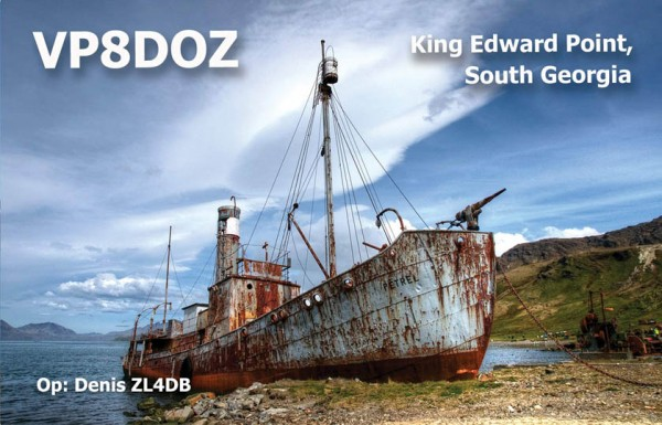 South Georgia Island VP8DOZ QSL