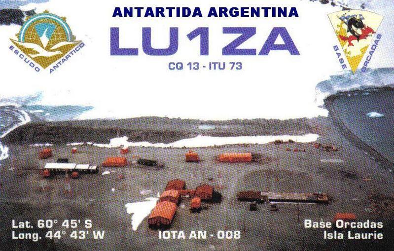 Isla Laurie South Orkney Islands Base Orcadas LU1ZA QSL