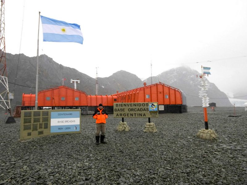 База Оркадас Остров Лори Южно Оркнейские острова LU1ZA Туристические достопримечательности.