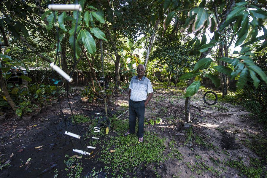 Sri Lanka 4S7NE Wire antennas of 4S7NE struggle against the tropical vegetation of Sri Lanka.