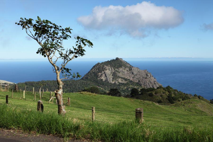 Остров Святой Елены ZD7W DX Новости Вид на высокий холм
