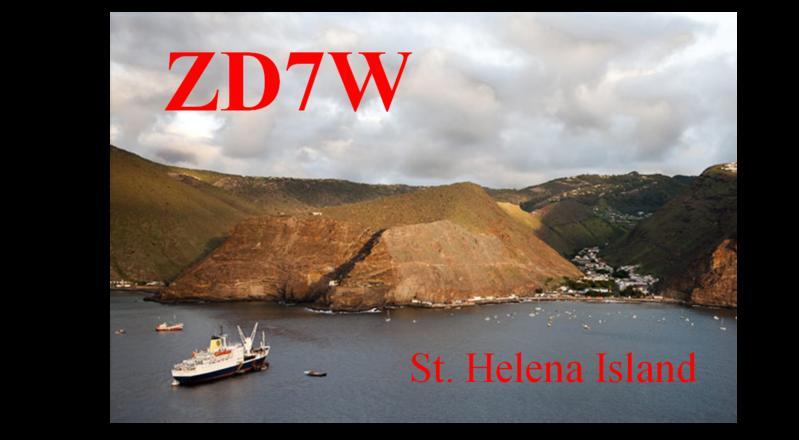 Остров Святой Елены ZD7W QSL
