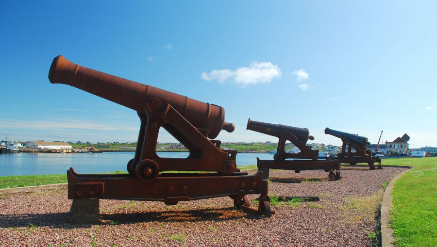 Saint Pierre and Miquelon Islands TO5FP DX News Canons Battery.