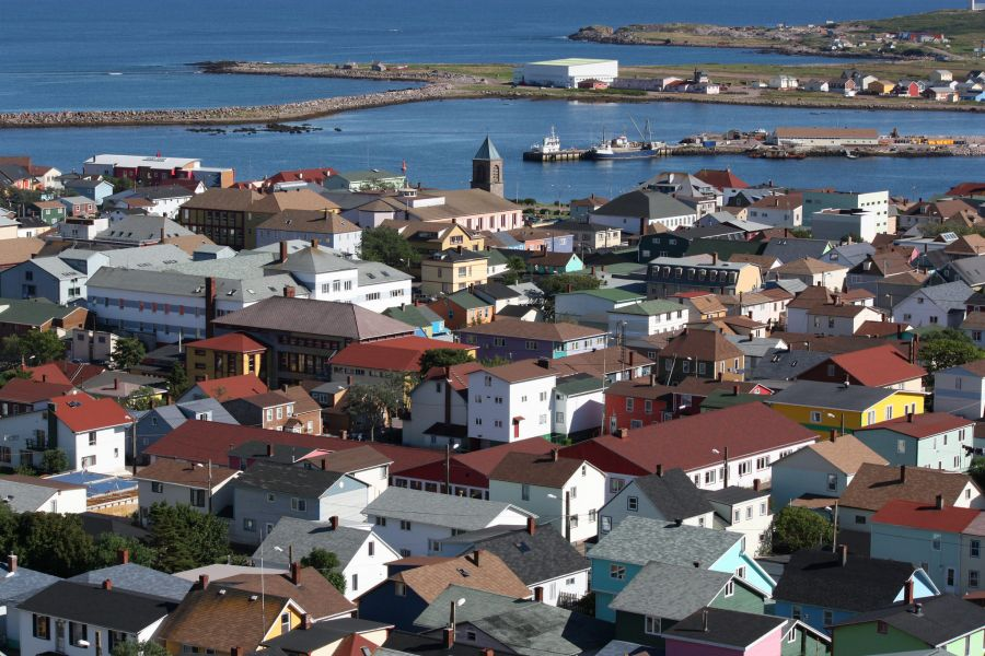 Saint Pierre and Miquelon Islands TO5FP View of the town of Saint-Pierre.