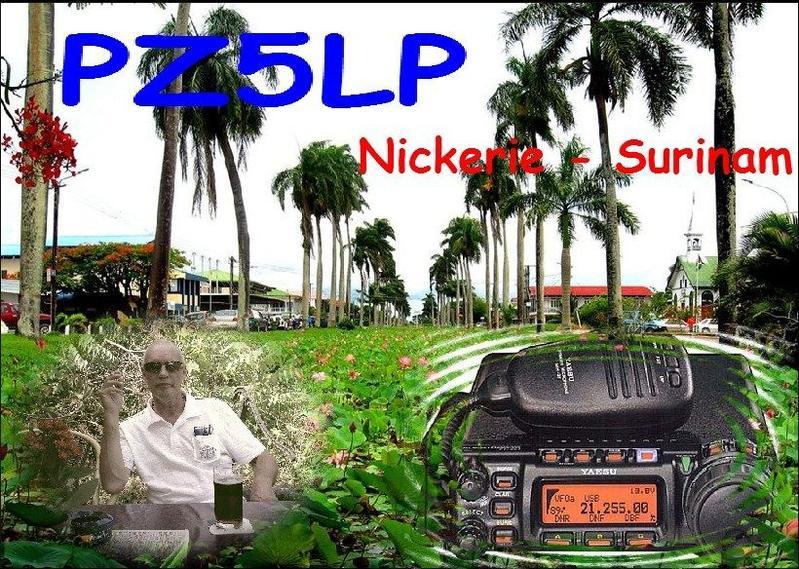 Суринам PZ5LP QSL 1