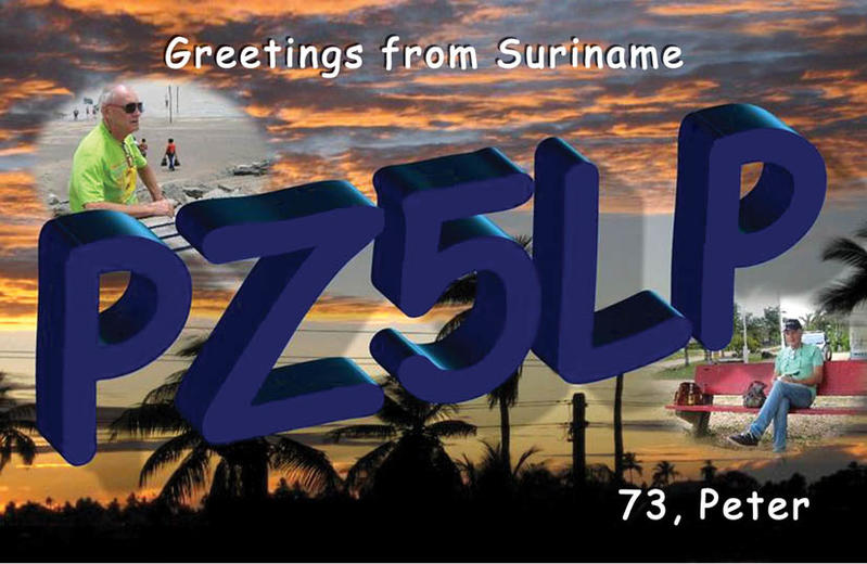 Суринам PZ5LP QSL 2