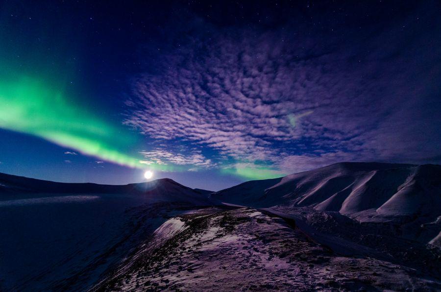 Svalbard JW/DK1BT JW/DL4WK JW/DL7DF JW/DL7UFR DX News Full moon, Aurora.