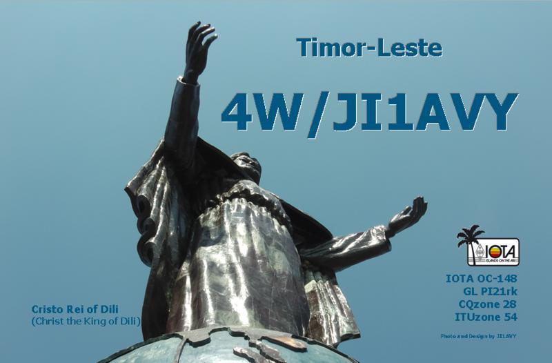 Тимор Лесте 4W/JI1AVY QSL