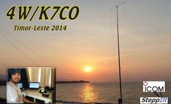 Timor Leste 2014 4W/K7CO QSL