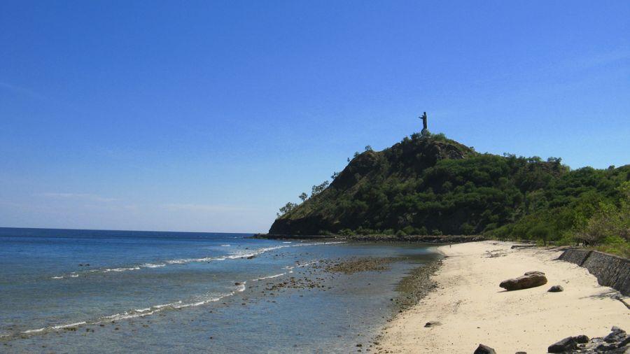 Timor Leste 4W/7K4QOK 4W/JQ2GYU 4W/JJ2VLY Cristo Rei Beach, Dili.