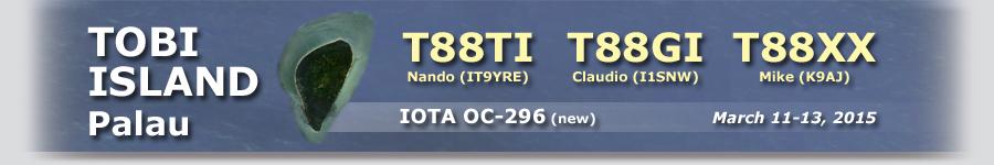 Остров Тоби Хатохобеи T88TI T88GI T88XX Палау