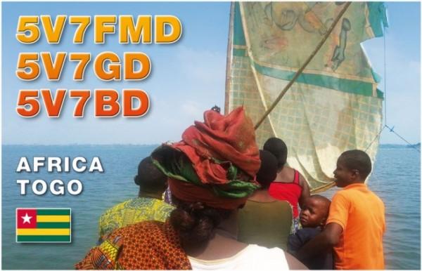 Togo 5V7FMD 5V7GD 5V7BD QSL