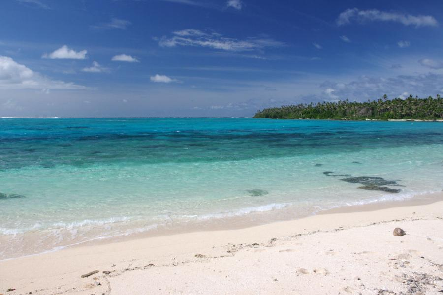 Tonga A31YM Tourist attractions spot Haano Island, Haapai Islands.