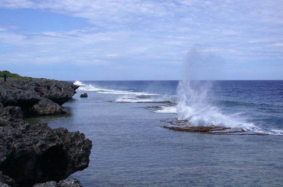 Tongatapu Island A35T Blowing holes.