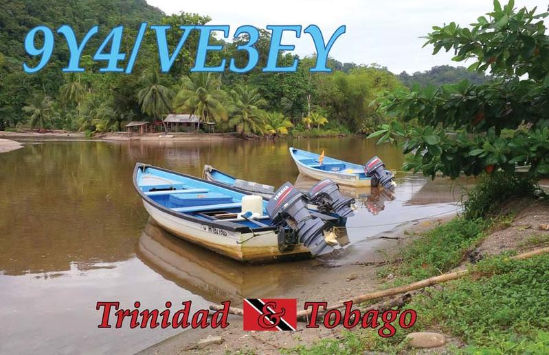 Trinidad and Tobago 9Y4/VE3EY QSL