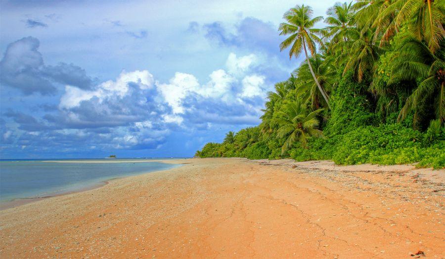 Tuvalu T2COW Tourist attractions spot Fualifeke island, Funafuti.
