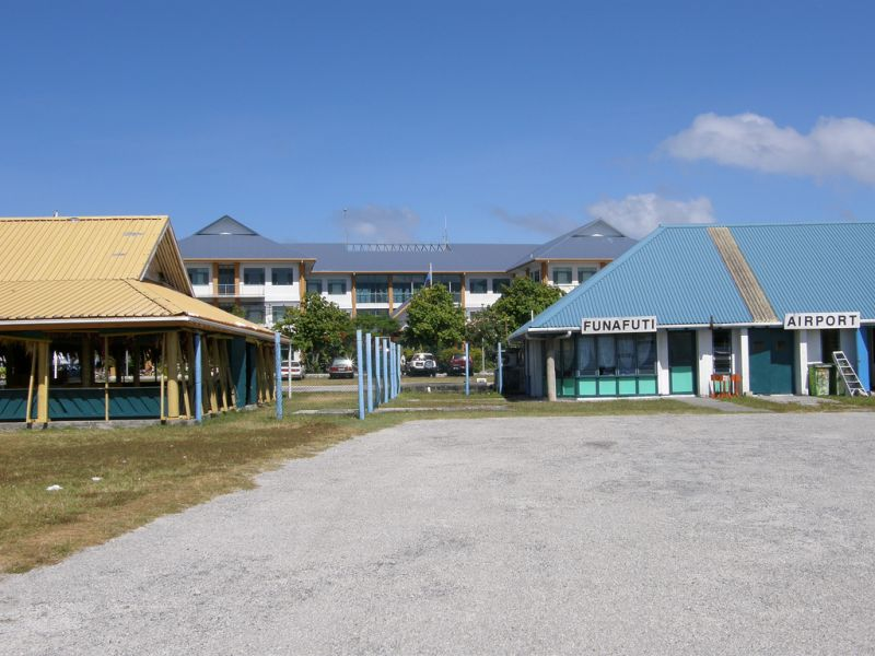 Tuvalu T2R Tourist attractions spot Funafuti Airport.