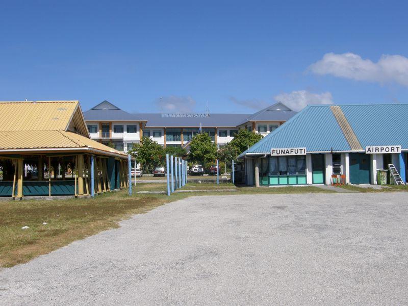 Tuvalu T2R Tourist attractions spot Funafuti Airport.