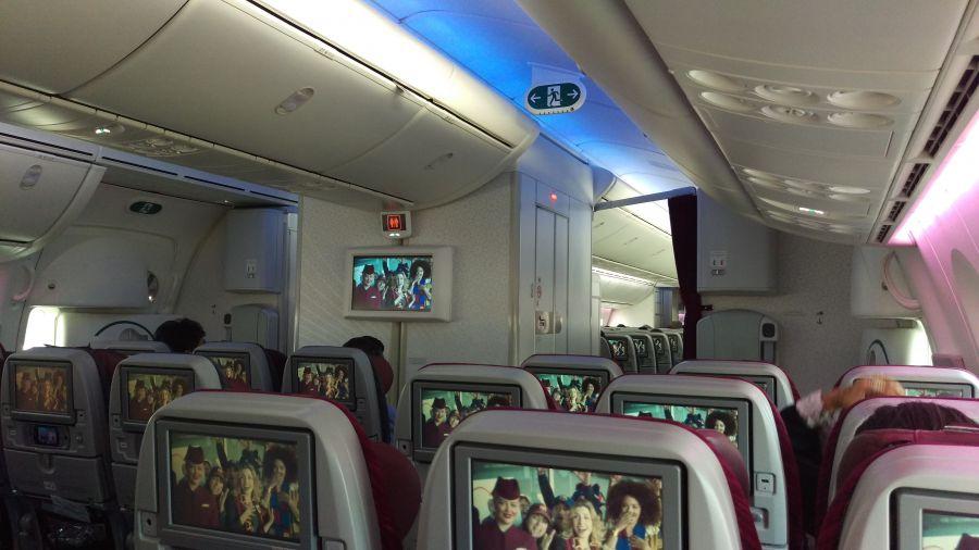 В салоне Боинга 787