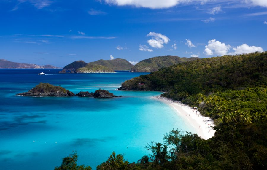 US Virgin Islands W2GD/KP2 DX News Trunk Bay.