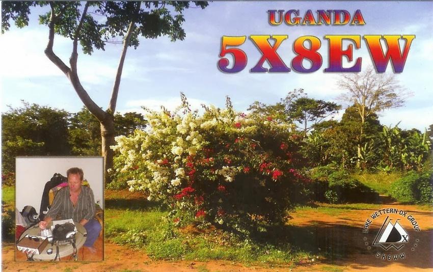 Uganda 5X8EW QSL