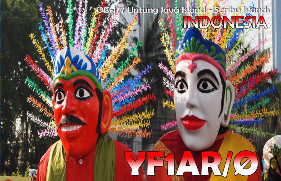 Untung Island YF1AR/0 QSL