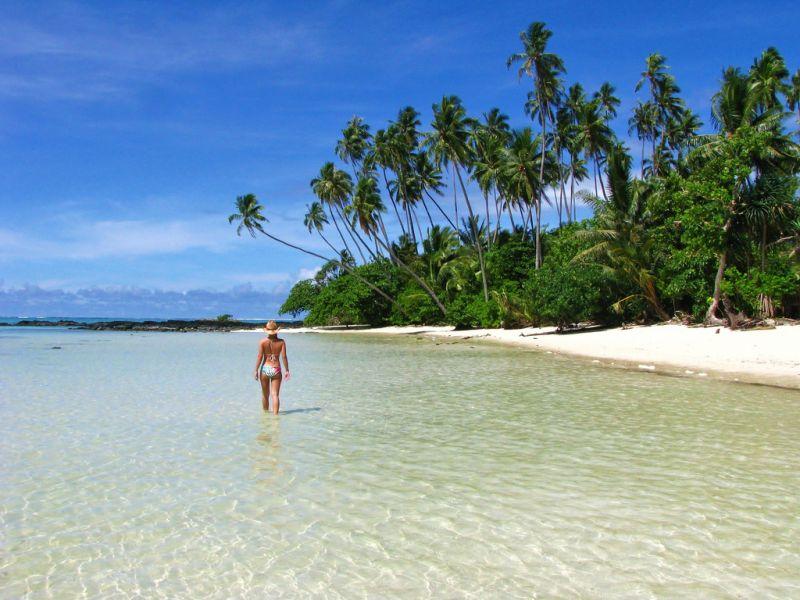 Upolu Island 5W0BOB Samoa Tourist attractions spot Virgin Cove.