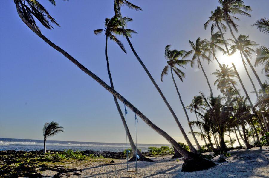 Остров Уполу Самоа 5W0RX Туристические достопримечательности Пляж.