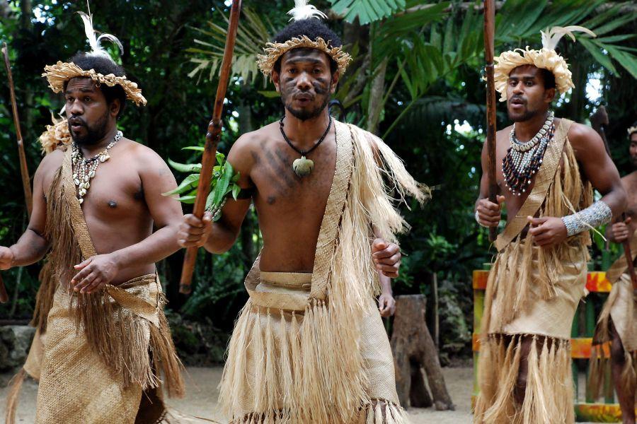 Vanuatu YJ0COW Tourist attractions spot Ekasup village, Efate Island.