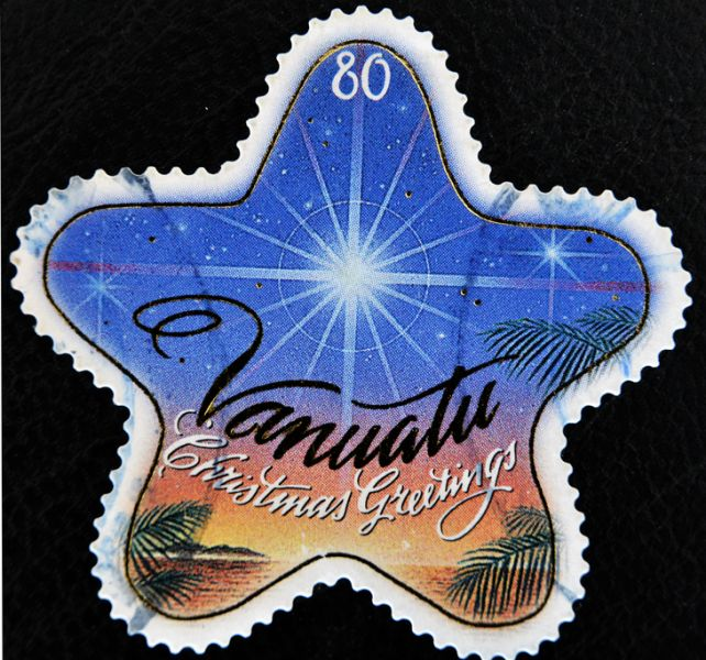 Vanuatu YJ0XG Merry Christmas Greetings stamp