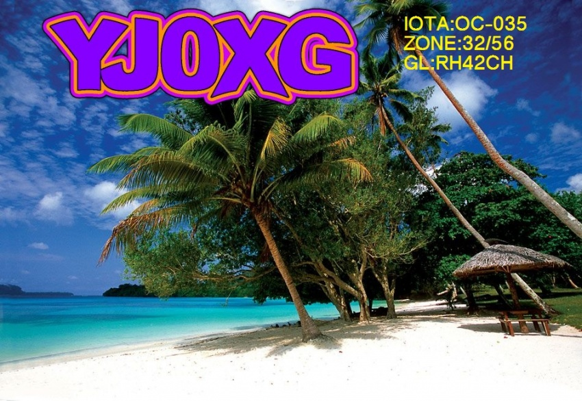 Vanuatu YJ0XG QSL