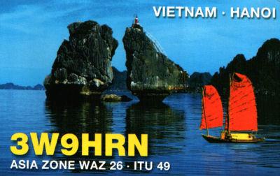 Вьетнам 3W9HRN QSL