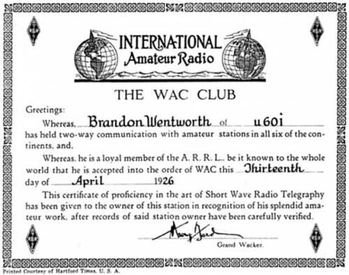 Диплом WAC Nr 1