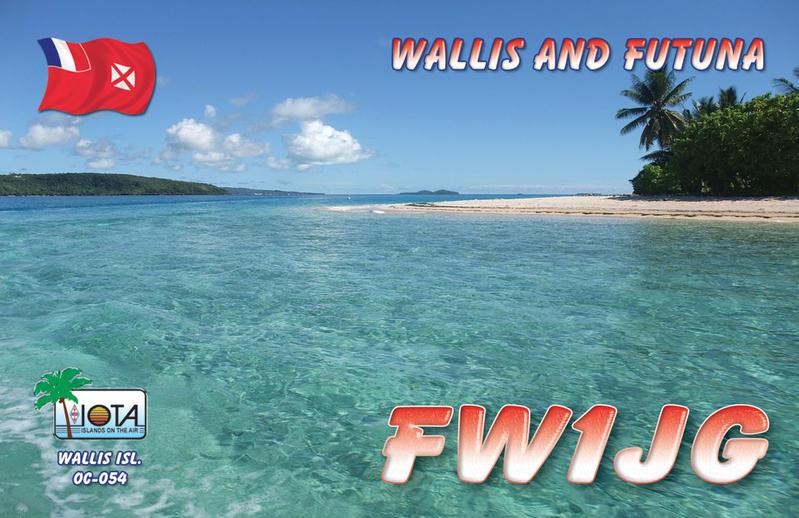 Wallis Island FW1JG QSL