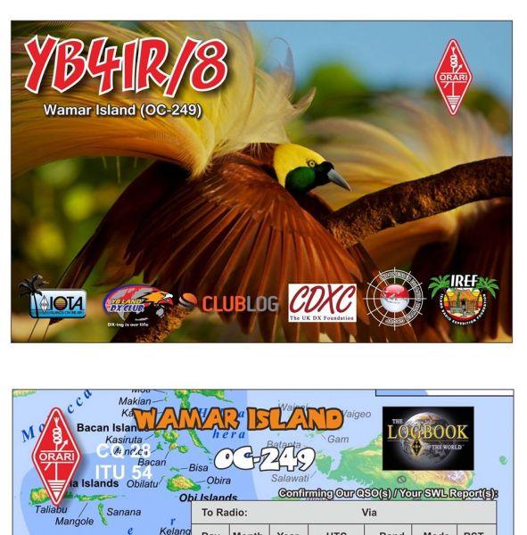 Wamar Island YB4IR/8 QSL
