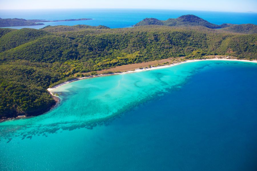 Whitsunday Island Whitsunday Islands VK4EI/P Aerial view of Chalkies Beach.