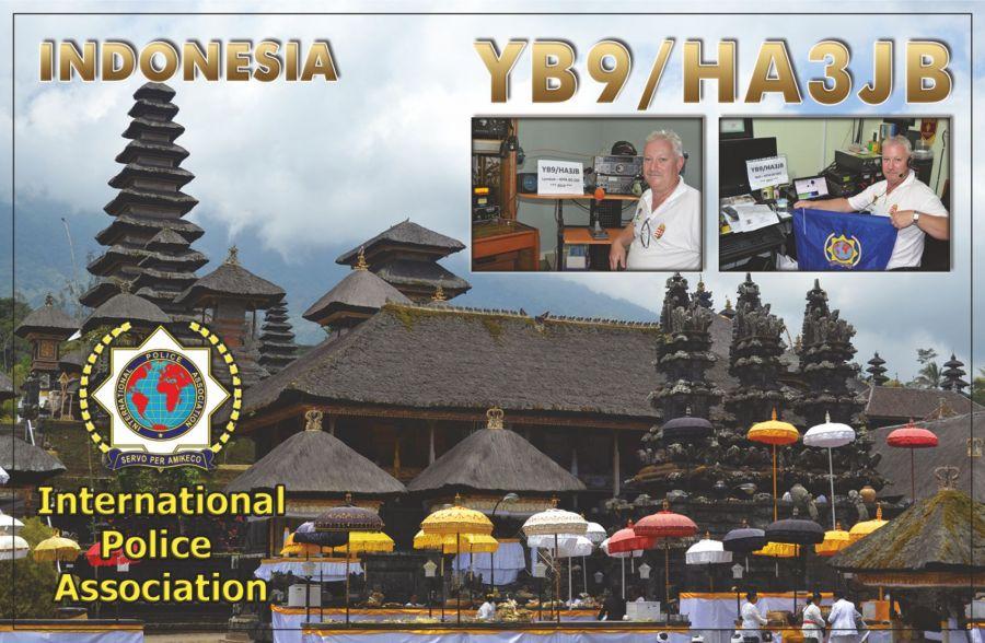 Остров Бали YB9/HA3JB QSL